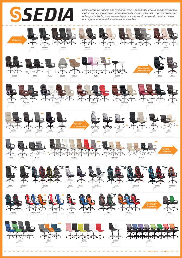 Плакат SEDIA кресла для офиса