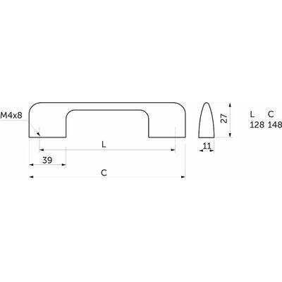 Ручка мебельная ORION ОРИОН - фото 4
