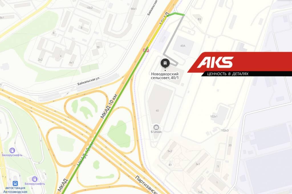 карта проезда AKS Стиклево