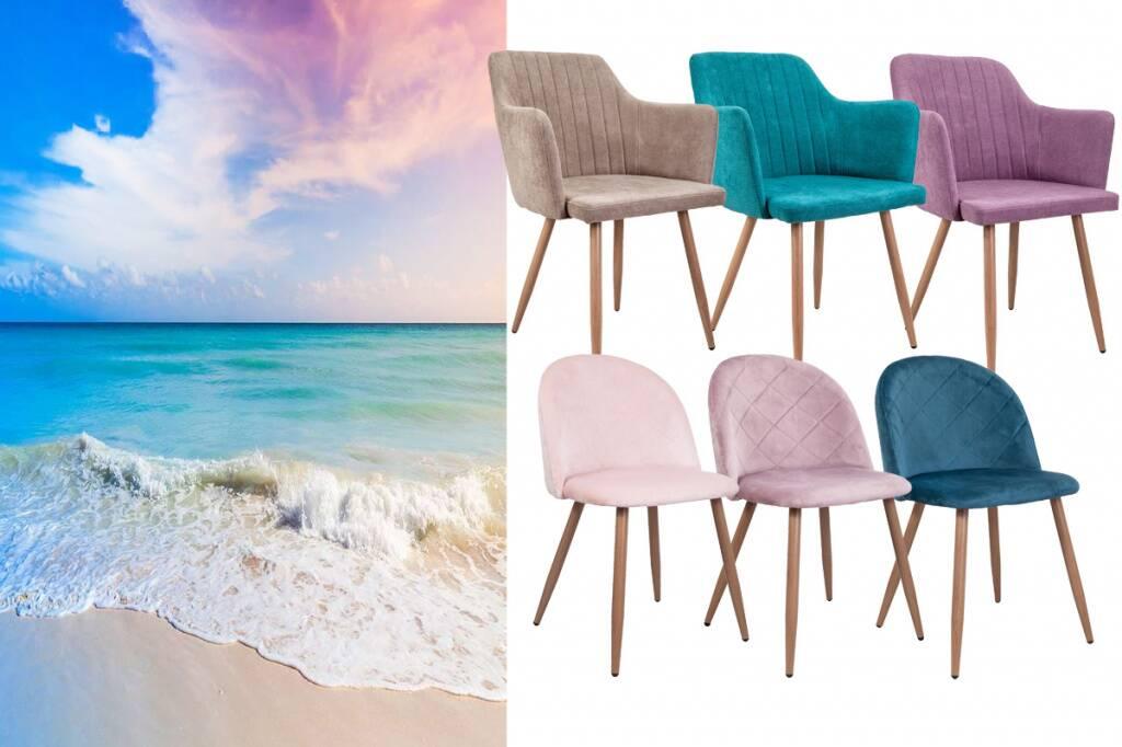 купить новинки кухонных дизайнерских стульев Sedia в ткани и велюре